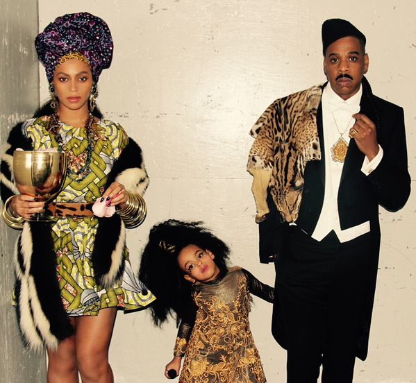 Beyonze and Jay Z and daughter Blue: Like a scene out of Eddie Murphy's Coming to America