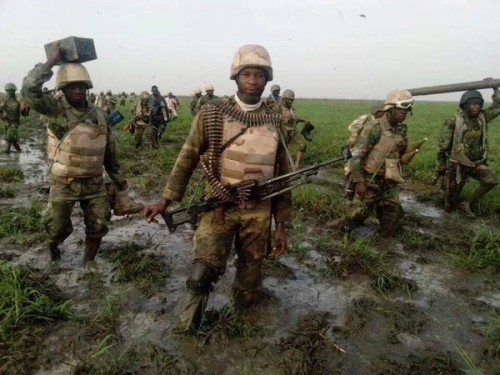 Nigerian troops on the Boko Haram front