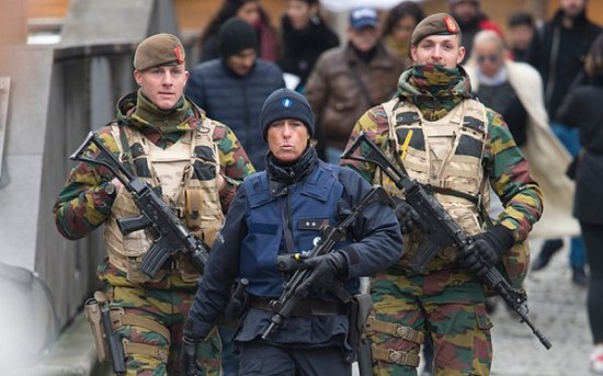 Soldiers on the streets of Brussels