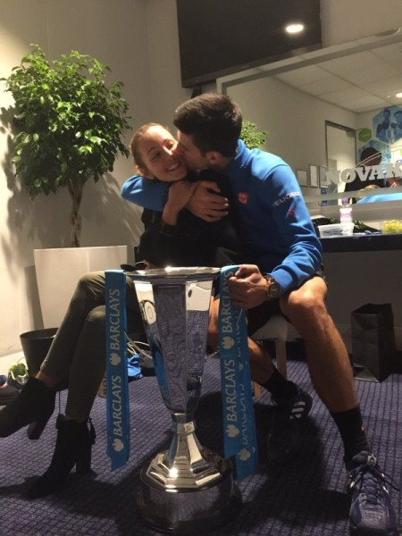 Djokovic and his wife Jelena: going on holidays with their son