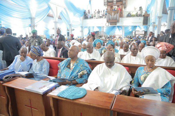Inside the church: Gowon, Sonekan others in the church