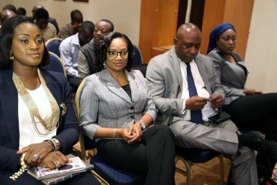 Cross section of Dangote staff at the launch of Dangote MEGA Millions, in Lagos