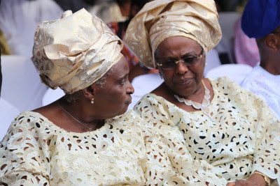 HID's daughters, Rev. Tola Oyediran and Dr. Tokunboh Awolowo-Dosumu