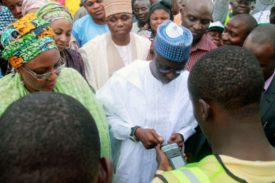 Governor Idris Wada during is verification (1)