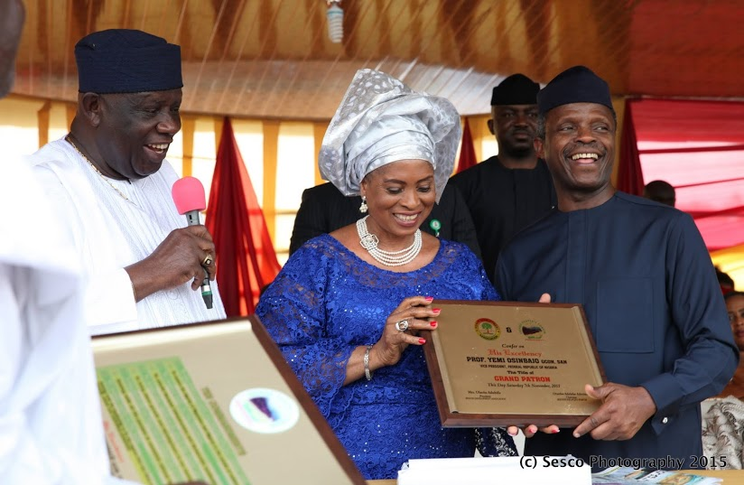 Osinbajo,right,  at Ereke Day, where he was also honoured