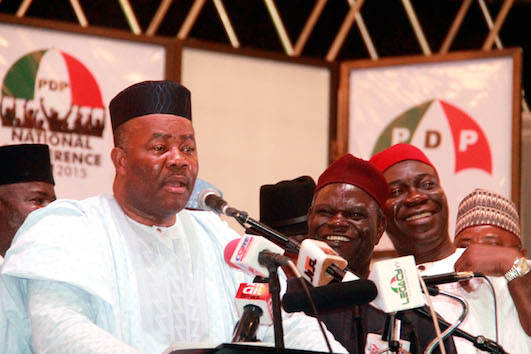 Godswill Akpabio and other leaders at the conference