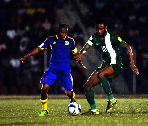 Mikel Obi with the ball
