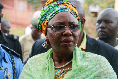Mrs Halima Wada, wife the governor is search of her name on the voting list (1)