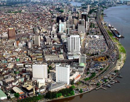 City of Lagos: also threatened by rising sea level