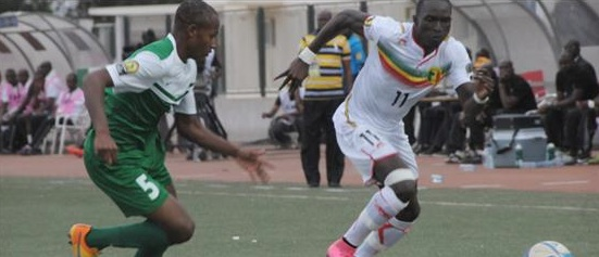 Some action during Nigeria v Mali match in Mbour