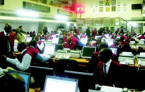 Dealers at the Nigerian Stock Exchange