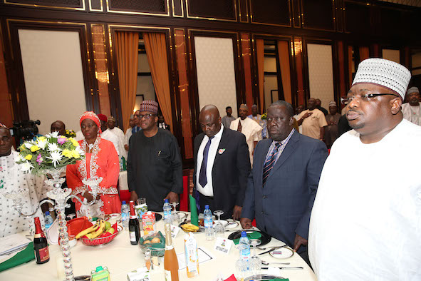 A Cross section of Senators at the dinner