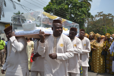 Pall bearer of carry  the remains of the late HID Awolowo.