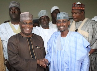 Atiku with Minister of FCT Alhaji Mohammed Bello