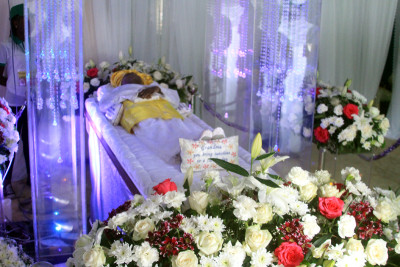 Remains of Late HID Awolowo, at the laying in State.