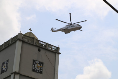 A chopper on a security mission at the event Photo Credit Idowu Ogunleye