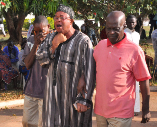 A relation of Prince Audu  in tears