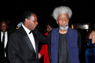 Soyinka and one of his hosts