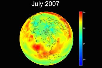 carbon dioxide levels in 2007
