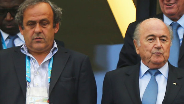Platini and Blatter: battered by FIFA panel