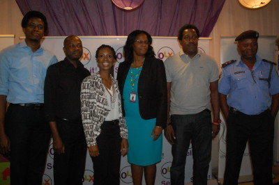 L-R: Femi Taiwo, CEO/CTO INITS Limited, Ope Adeoye, Manager, Strategy and Alliances InterSwitch, Lola Masha, Country Manager, OLX, Jameelah Ayedun, MD/CEO, CR Services, Biyi Mabadeje, Former Commissioner of Science and Technology, Lagos State and CSP Charles Okafor during the OLXMomo Press Conference recently held in Lagos