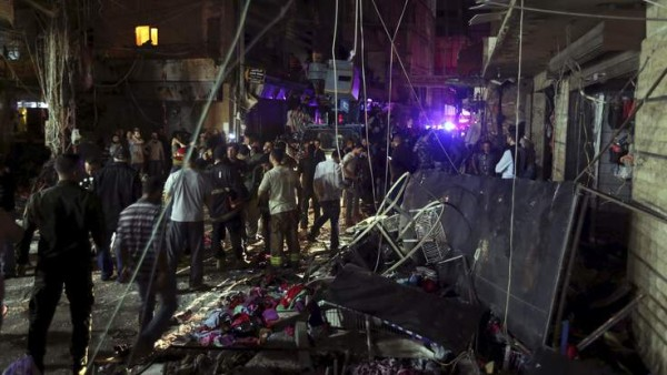 Scene of the deadly blasts in Beirut