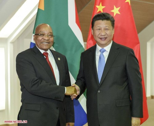 Zuma and Xi Jinping at the last Africa summit