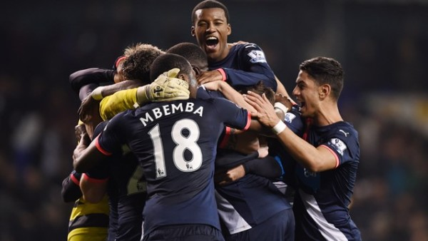 Incredible victory: Newcastle players rejoice
