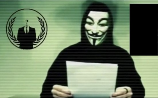 A member of the hacking Collective known as Anonymous