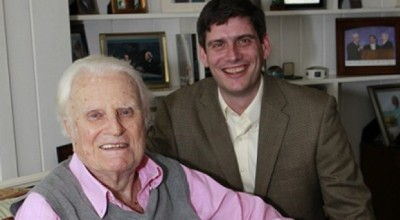 Billy Graham (left) with his grandson Will Graham