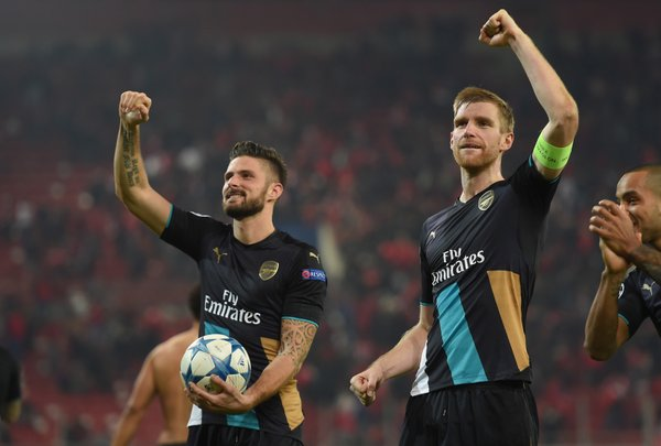 A time to celebrate for the Arsenal Players