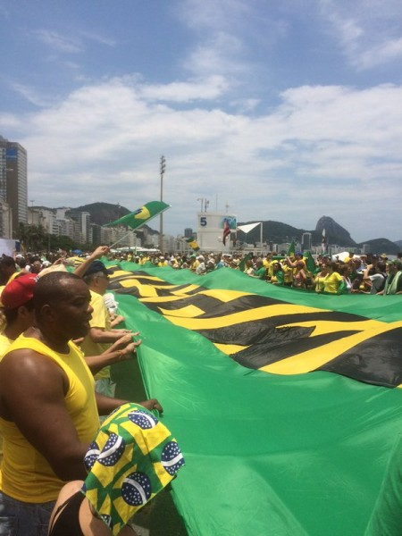 Anti-Rousseff protest in Brazilian cities today