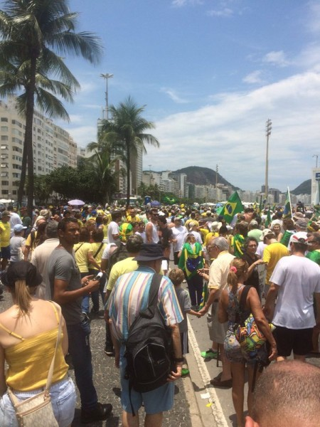 Brazil protesters on the streets of Rio