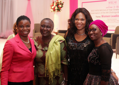 L-R: Yewande Sadiku, Executive Director, Stanbic IBTC Bank; Prof. Remi Sonaiya, first female presidential candidate; Lynda Saint-Nwafor; Chief Technical Officer, MTN Nigeria and Mrs. Amina Oyagbola; founder, WISCAR at the ceremony held in Lagos recently