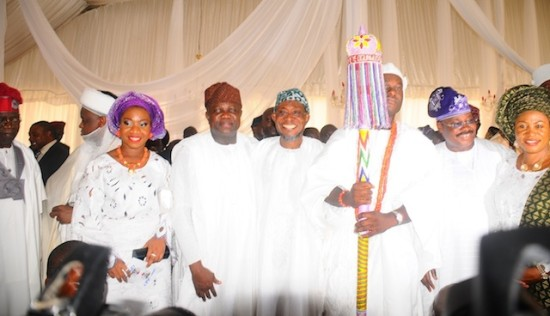 Oba Ogunwusi in a photo-op with South West governors and their wives