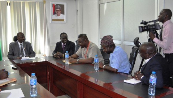 Magu with members of the Civil Society groups today