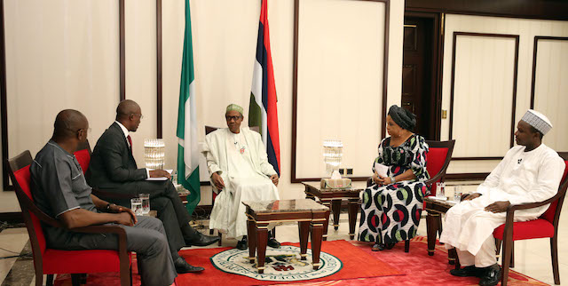 President Buhari during the interview
