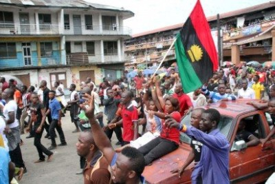 Pro- Biafra protesters