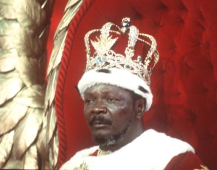 The late Emperor Jean Bedel Bokasa who was nicknamed the Butcher of Bangui because of his brutal style