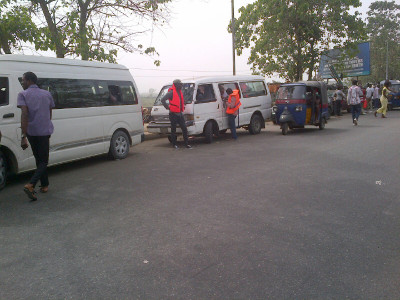INEC ad-hoc staff in hired buses ready to be conveyed to their locations