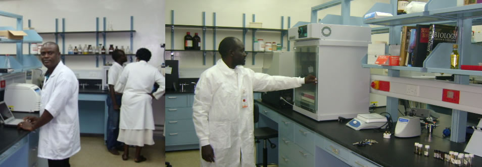 Scientists working at the lab of National Institute of Pharmaceutical Research Development (NIPRD)