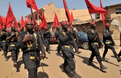 Shiite Muslims take part in a rally to commemorate Ashura in Kano, Nigeria, on 24 October 2015. Reuters