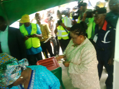 Patience Jonathan also voted