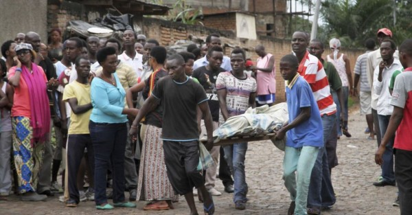 A body being taken away in Bujumbura last December. More reports of violence since then