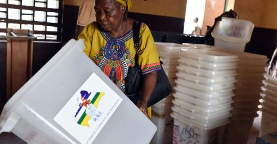 An election official in CAR. BBC Photograph
