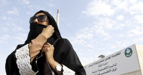 A Saudi woman: some measure of democratic rights