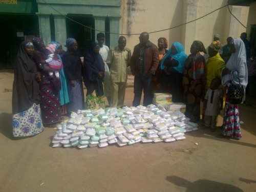 The food packs brought by the women to Kaduna Prison. Photo: Newsrescue