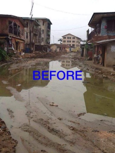 One of the major streets in Aba before