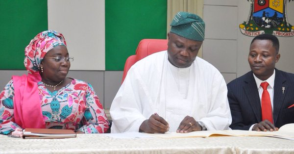 Ambode signs the Employment Trust Fund Law