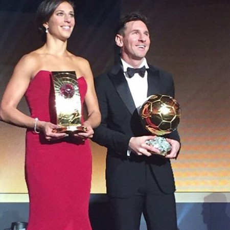 The best in the world: Carli Llyod and Messi